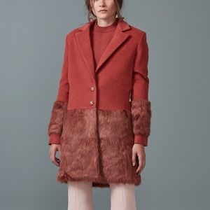 Anthropologie Keepsake Shallows Faux Fur Coat